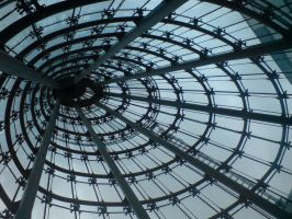 Glass Cone Roof Interior by darkhoodness