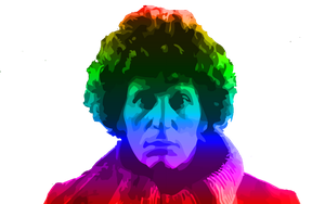 Tom Baker loves Colors by TimeTravelingTardis