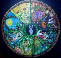 Wheel of Year by oshuna