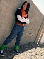 I'm Here 18 - Android 17 Cosplay by Oniakako