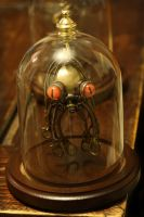 Steampunk Octopus Ornament with Glass Dome by CatherinetteRings