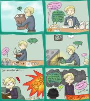 Draco Malfoy vs. Birthday Cake: Cake 1, Draco 0 by readyplayerzero