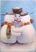 Snowmencard by ArtAnda
