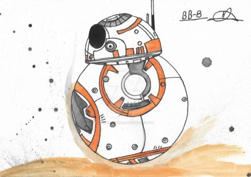 Bb-8 Fan Art by MegEllyGerena