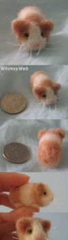 Needle Felted Guinea Pig 2 by WhimsyWeb