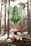 Vintage Jade Fairy by Shirley-Agnew-Art
