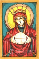 Blessed Mother And Eucharist by natamon
