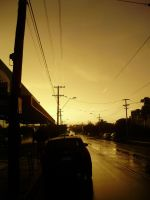 Melbourne Street Dawn 1 by loneantarcticwolf