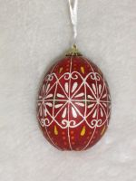 Red and White Easter Egg by indystdnt