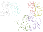 Homestuck shipping sketches by voidless-rogue