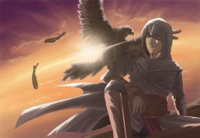Altair at sunset by xzodust