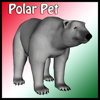 Santa's Pet Polar Bear by Stock-by-Dana