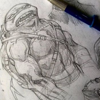 Teenage Mutant Ninja Turtles - sketchbook by rogercruz