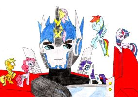 Optimus and main 6 by SpeedFeather