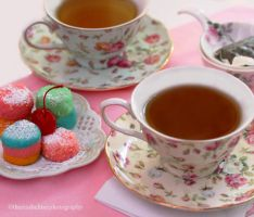My Afternoon Tea w/ Rainbow Tea Cakes by theresahelmer