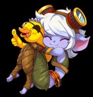 Tristana with a duck by Nestkeeper