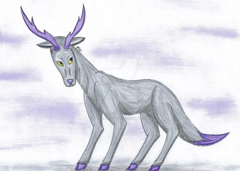 Purple Antlers (Art Trade) by MyrielLachance
