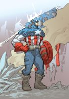 captain america by johnnymorbius