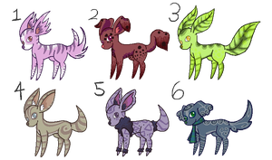 -OPEN- 15 point puppies by M3LANCH0LY-AD0PTS