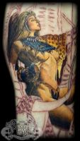 Amazon chick by state-of-art-tattoo