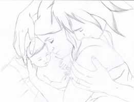 Naptime with Their Little Angel WIP by ForeverFallen16