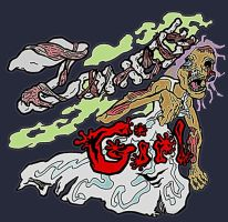 zombie girl flatcolor by racingspoons