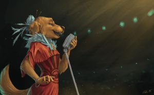 Maggie, with the Golden Voice by SlateDragon