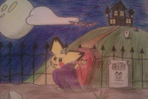 Happy  Pichu-Halloween!!! by Adripika