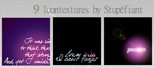 Text Icontextures by stoffdealer