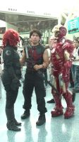 Black Widow, Hawkeye, and Iron-Man at AX 2013 by trivto