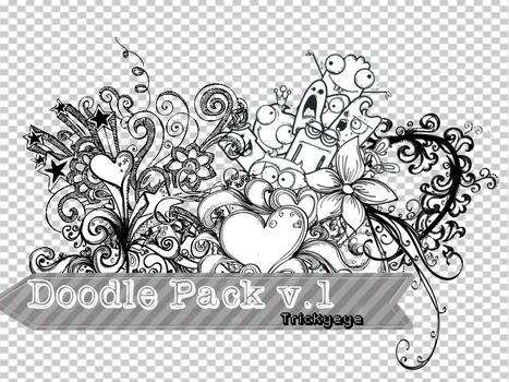 Doodle pack v.1 Png by trickyeye26