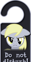 Derpy Hooves Door Knob Hanger by Thorinair