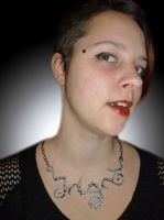 Necklace and me by glo0bule