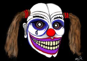 The smiling clown by basscania