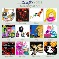 Xcoqui 2012 Art Summary by Xcoqui
