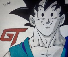 Goku The Protector by WatersDBZArt
