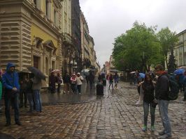 The main street in Lviv by rosenglas