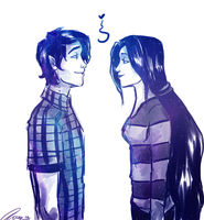 Marshall Lee and Marceline by annogueras