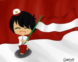 Happy Independence Day Indonesia by wafflerp