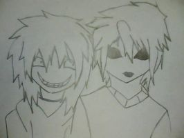 Masky and Jeff the killer by dianaTR