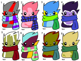 Some Scarfblob adopts by Tori-Adopts
