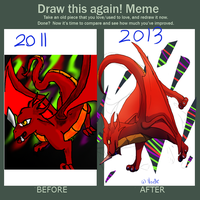 Draw this again meme by iiDragonfantasyArt