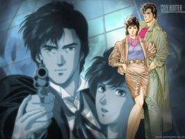 City hunter on my desktop by MrRyoSaeba85