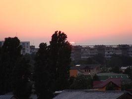 sunset from my window by hariana
