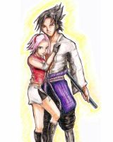 Sasuke and Sakura by narutofavorites
