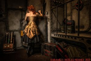 Gold overbust corset dress 2012 collection ' by Esaikha