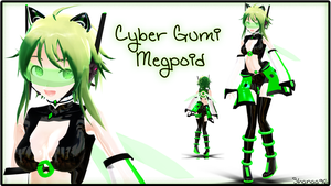 .:500 Watchers Gift:. Cyber Gumi Megpoid by shanaachan