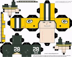 Don Beebe Packers Cubee by etchings13