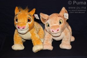 Cub Simba and Nala plush by dapumakat