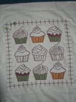 Cupcakes Cross-stitch by PrincesseDeLamballe